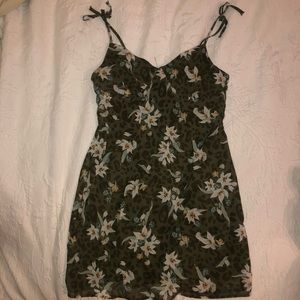 Cotton On Earth Green Floral Mini Dress